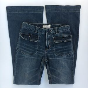 Free People high-rise jeans flare front pockets 27